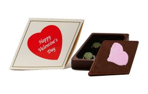 Diamond Chocolate Box with 4 CBD Chocolates