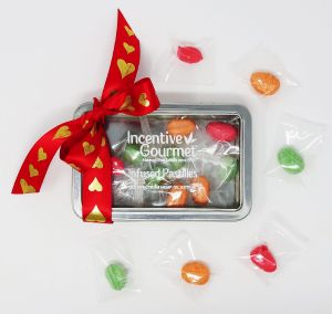 Infused Pastilles - Individually wrapped 16 hard candies in a reusable metal tin