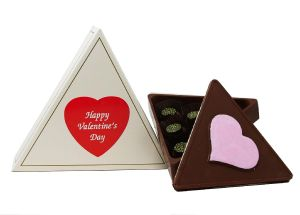 Triangular Chocolate Box with 6 CBD Chocolates